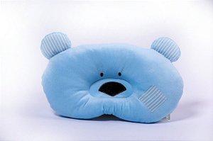 Travesseiro Baby Urso Azul Zip