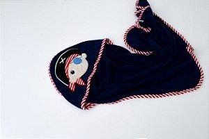 Toalha de Banho com Capuz Pirata Zip