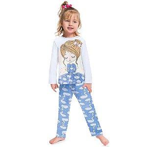 Pijama Cisne Brilha no Escuro Kyly