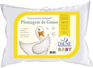 Travesseiro Infantil Plumagem de Ganso 30x40cm Daune