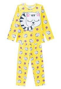 Pijama Gatinho Amarelo Brilha no Escuro Kyly