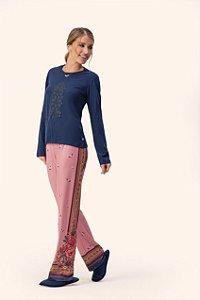Pijama Feminino Reluzente  Lua Encantada