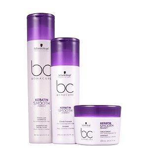 Schwarzkopf Bonacure Keratin Smooth Perfect Kit Shampoo250ml+Condicionador200ml+Máscara200ml