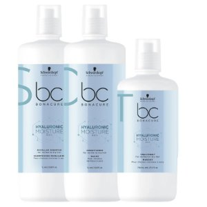 Schwarzkopf Bonacure Hyaluronic Moisture Kick Kit Shampoo1000ml+Condicionador1000+Mascara750ml
