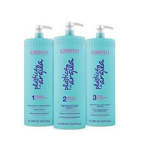 Cadiveu Plástica de Argila  Kit (Shampoo+ Condicionador+ Fluído) 500 ml