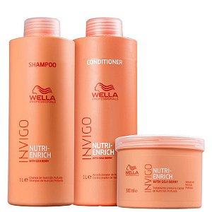 Wella Professionals Nutri Enrich Kit 3 produtos (Shampoo+Condicionador+ Máscara)