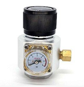 MINI REGULADORA PROF. DE CO2 P/ CILINDROS C/ ROSCA 6ACME (TR21*4)