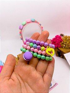 Kit de pulseiras Macaron