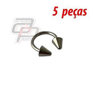 Piercing Circular Barbell Spike - 10mm - Espessura 1.2  (5 peças)
