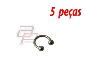 Piercing Circular Barbell (Ferradura) - 8mm - Espessura 1.2  (5 peças)