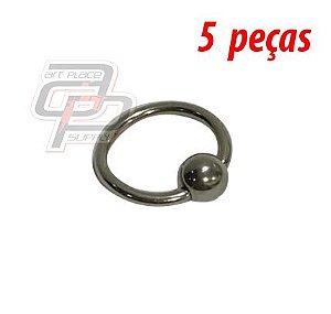 Piercing Captive - 12mm - Espessura 1.2  (5 peças)