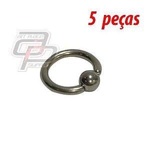 Piercing Captive - 12mm - Espessura 1.6  (5 peças)