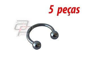Piercing Circular Barbell (Ferradura) - 10mm - Espessura 1.2  (5 peças)