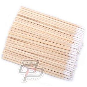 Cotonetes de algodão Aplicador Maquiagem Definitiva Sobrancelha - Pacote com 50 unidades