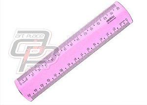 Régua em poliestireno 15 cm rosa