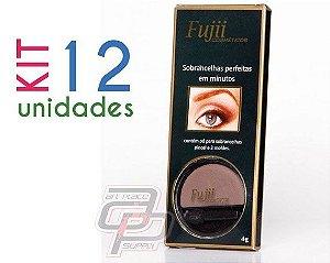 KIt Sombra para Sobrancelhacom 12 unidades(4gr) -  Fujii