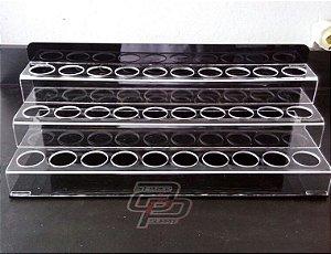 Porta Tintas Acrílico 3 andares para 30 tubos 30ml