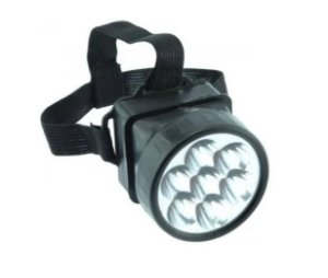 Lanterna De Cabeça Com 9 Lâmpadas De Leds