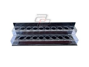 Porta Tintas Acrílico 2 andares para 20 tubos 30ml