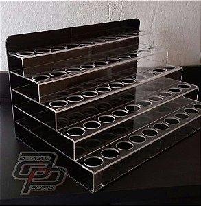 Porta Tintas Acrílico 5 andares para 50 tubos 30ml