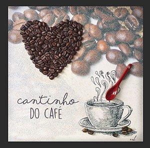 Quadro Cantinho do Café 3D 30x30cm