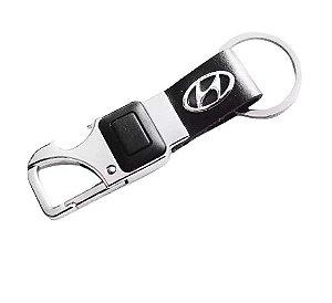 Chaveiro Automotivo Hyundai Lanterna Led com Abridor de Garrafa