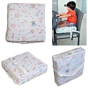 Assento Almofada de Elevação Infantil Criança - Estampa Princesa