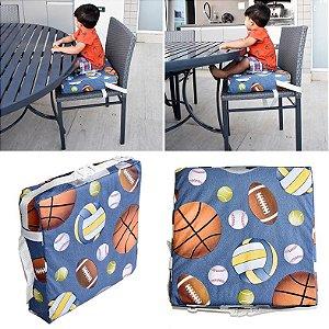 Assento Almofada de Elevação Infantil Criança - Estampa Bolas