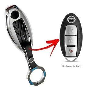Capa de Chave Presença Nissan - Detalhes Azul