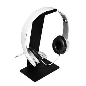 Suporte De Mesa Fone De Ouvido Headphone Headset Universal Preto