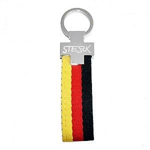 Chaveiro automotivo de lona Sterk Estampa cores bandeira Alemanha