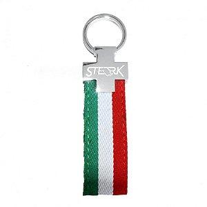 Chaveiro automotivo de lona Sterk - Estampa cores Bandeira Itália