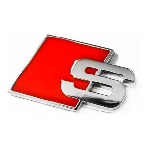Emblema Audi S Line S-line para Tampa Traseira Porta-malas