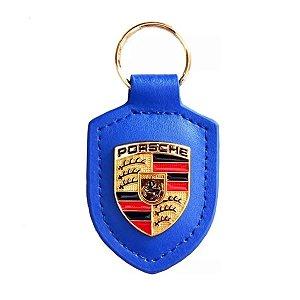 Chaveiro Automotivo de Couro Porsche - Azul