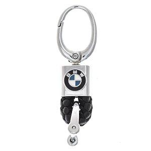 Chaveiro Automotivo BMW Couro Mosquetão