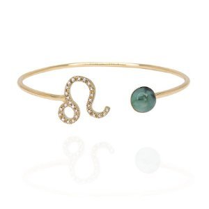 Bracelete Leão Esmeralda