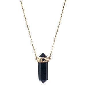 Colar Prisma Obsidiana