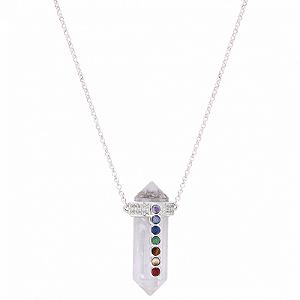 Colar Prisma Total Longo Cristal de Quartzo