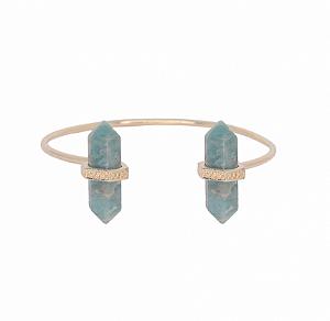 Bracelete Prisma Duplo Amazonita