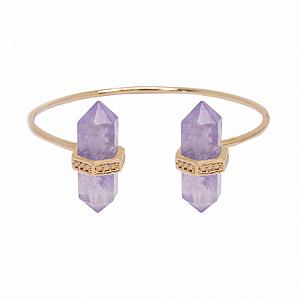 Bracelete Prisma Duplo Ametista