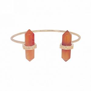 Bracelete Prisma Duplo Cornalina