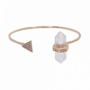 Bracelete Prisma Triângulo Cristal de Quartzo