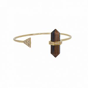 Bracelete Prisma Triângulo Olho de Tigre