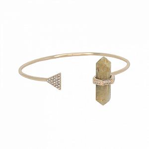 Bracelete Prisma Triângulo Quartzo Rutilado