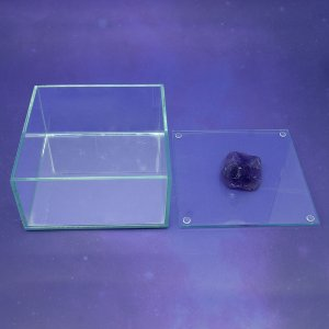 Caixa de Pedra Bruta G Ametista