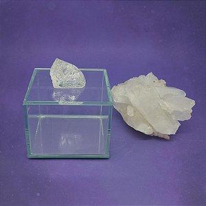Caixa de Pedra Bruta P Cristal de Quartzo