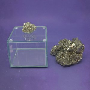 Caixa de Pedra Bruta P Pirita