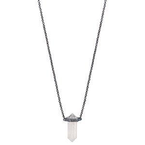 Colar Prisma Cristal de Quartzo Unissex