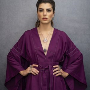 Kimono Darck Purple Curto