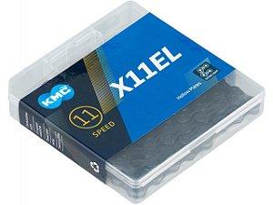 Corrente KMC X-11EL Black Tech 11v Vazado [1/2x11/128] 116L